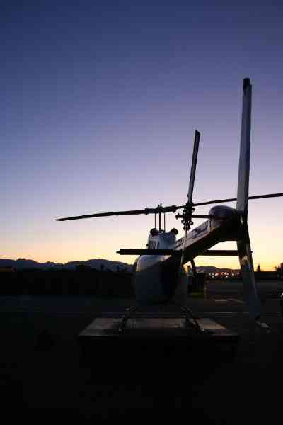 Helicopter at Dusk